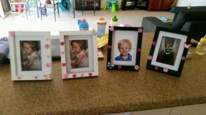 Crafting presents for Grandma and Nana